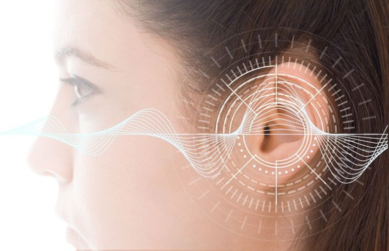 sound waves entering the ear